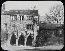 Glass Magic Lantern Slide WINCHESTER CATHEDRAL THE DEANERY C1890 PHOTO ENGLAND
