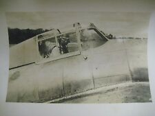 Vintage Original WWII Photo U.S. Army Air Force SOLDIER IN AVIATOR GOGGLES PLANE