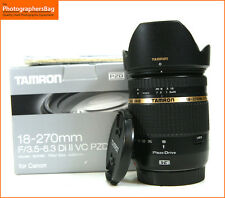 Tamron 18-270mm f3.5-6.3 Di II VC PZD Zoom Lens -Canon Fit + Free UK Postage