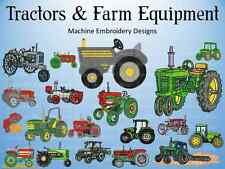 Tractors and Farm Equipment Machine Embroidery Design Patterns PES HUS JEF VIP