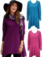 LADIES BLUE  KNITED JUMPER DRESS TOP SWEATER TUNIC PLUS SIZE UK 6 8 10 12 14 16