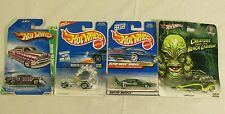 Hot Wheels Lot of 4 Real Riders Treasure Hunt Rodzilla Flyin Aces Black Lagoon