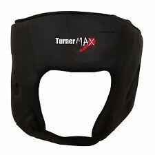 TurnerMAX Leather Head Guard Boxing Helmet face Protection Kick MMA