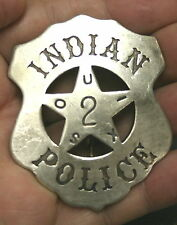 Reproduced Solid    SOUIX INDIAN POLICE    Badge - Shield Shape with Star Center