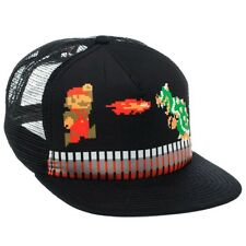 Official Retro Pixelated Super Mario Bros Bowser Trucker Baseball Cap Hat - New