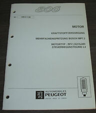 Werkstatthandbuch Peugeot 806 Mehrfacheinspritzung Bosch MP7.3 RFV XU10J4R 1998