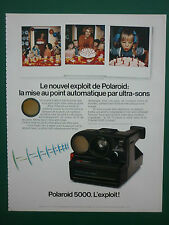 5/79 PUB POLAROID 5000 APPAREIL PHOTO CAMERA MISE AU POINT ULTRA-SONS FRENCH AD