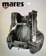 NEW MARES ROVER SCUBA DIVING BCD NON WEIGHT-INTEGRATED DIVE BC SIZE XL BLACK