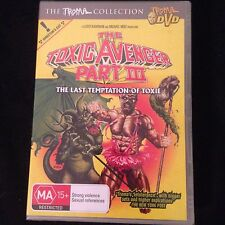 THE TOXIC AVENGER Part 3 R4 DVD Free Post New & Sealed
