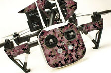 DJI Inspire 1 graphic skins w/6 Batteries Transmitter Decals | Digi Camo Red