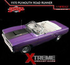 GMP 18810 1:18 1970 PLYMOUTH ROAD RUNNER CONVERTIBLE 440 SIX PACK 4 SPD