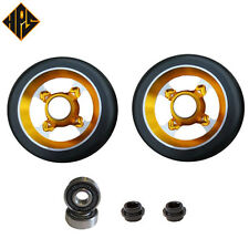 2X PRO STUNT SCOOTER GOLD TYPHOON  METAL CORE WHEELS 100mm 88A ABEC 11 BEARINGS