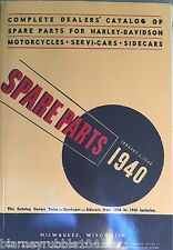 Harley Parts Manual Catalog Book 1930 to 1940 VL D R Knucklehead UL Side Car