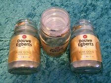 3 Douwe Egberts coffee jars Empty Glass Storage Containers Large 190g Jars