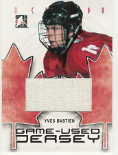 2007-08 ITG O CANADA YVES BASTIEN GAME USED JERSEY /100