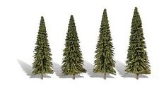 Woodland Classics TR3568  Trees 'Forever Green' 4 Pk N,HO,O Scale Free T48 Post