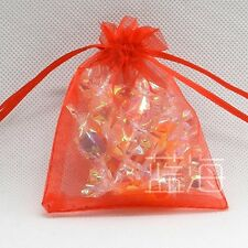 7X9cm 100Pcs Sheer Organza Wedding Party Favor Gift Candy Bags Jewelry Pouches