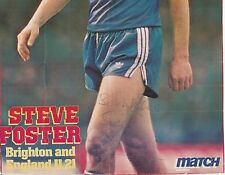STEVE FOSTER BRIGHTON & HOVE ALBION 1979-84/1992-96 ORIG SIGNED MAG DOUBLE PAGE
