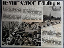 Document Photo 8e salon nautique Cours la Reine ARONIA  1933