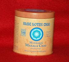 MANDARIN MASALA CHAI - BLUE LOTUS CHAI TEA - 3 OZ-TIN CAN - MAKES 100 CUPS