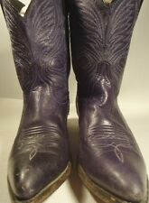 Code West Navy Leather Shorty Cowboy Western Ankle Boots Women's 6.5M