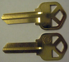 2 BRASS BLANK HOUSE KEYS FOR 5 PIN KWIKSET LOCK KW1 CAN BE PUNCHED TO YOUR CODE