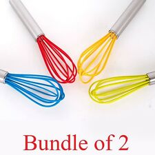 SOL Bundle of 2. Silicone Whisk. Baking essentials. Metal handle