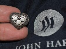 JOHN HARDY JH STERLING SILVER 925 HEART DOTS TIE TACK signed PIN 2003 & dust bag