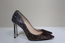 sz 8.5 / 38.5 Jimmy Choo Romy Glitter Shimmer Pointed Toe Pump Shoes