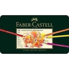 FABER CASTELL POLYCHROMOS ARTISTS QUALITY COLOUR PENCILS - 120 SET - BNIB
