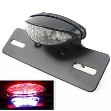 Motorcycle LED Tail Brake Light License Plate Holder Dirt bike Chopper Cruiser