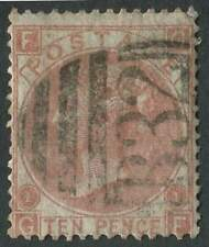 GB used in ARGENTINA Z21 10d red-brown,GF, slight fading and one short perf, F/U