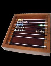 9 Rod Solid Cherry Amish Open Bead Storage Box (Stacks below 5 & 9 rod boxes)