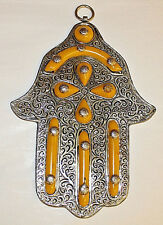 Hand Made Key Holder Hamsa Khamsa Hand of God Good Luck Protection Wall Hanging
