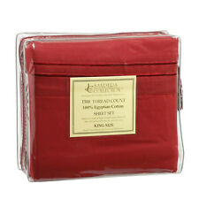1500 TC THREAD COUNT LUXURY EGYPTIAN COTTON SHEET SET KING SIZE BURGUNDY RED