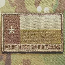 DONT MESS WITH TEXAS STATE FLAG ARMY  MULTICAM HOOK & LOOP MORALE BADGE PATCH