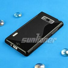 black Gel TPU Rubber Silicone Case Skin Cover for LG P705 / P700 / L7 Optimus