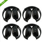 4PCS 2-Channel IR Wireless Headphones Headsets for Car DVD Player&Headrest