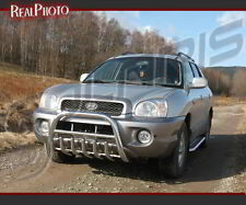 HYUNDAI SANTA FE 2001-2005 BULL BAR,NUDGE BAR +GRATIS / STAINLESS STEEL SANTAFE