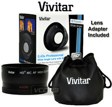 VIVITAR 0.43x Wide Angle LENS 67MM HD4 MACRO for camera camcorder  82MM Filter