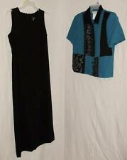Womens dress outfit-12/14-Miss Dorby teal & black-Dress & Top