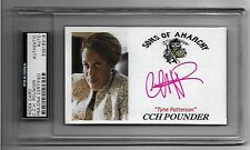CCH POUNDER In-Person Signed 3x5 index card SONS OF ANARCHY - PSA/DNA - RARE !!