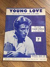 TOMMY STEELE - années 50 partitions - YOUNG LOVE - par Carol Joyner & Ric Cartey