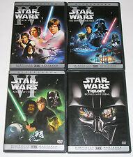 Star Wars Trilogy Star Wars IV, V & VI (DVD, 2004, 4-Disc Set, Widescreen) USED