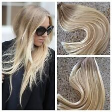 5 Star Remy Tape In Human Hair Extensions Ombre Balayage Custom Color Seamless