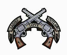 Ladies Love Outlaws embroidered iron on Motorcycle Biker Patch