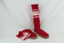 Victorias Secret Mukluk Boots Pink VS Knit Sock Sweater Slippers Size Medium