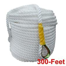"NEW 1/2""x300' Twisted Nylon Anchor Rope/Line with Thimble, Boat Rode, US Stock"