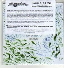 (CX5) Family Of The Year, St Croix - 2011 DJ CD