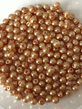 4mm Glass faux Pearls - Caramel (200 beads)